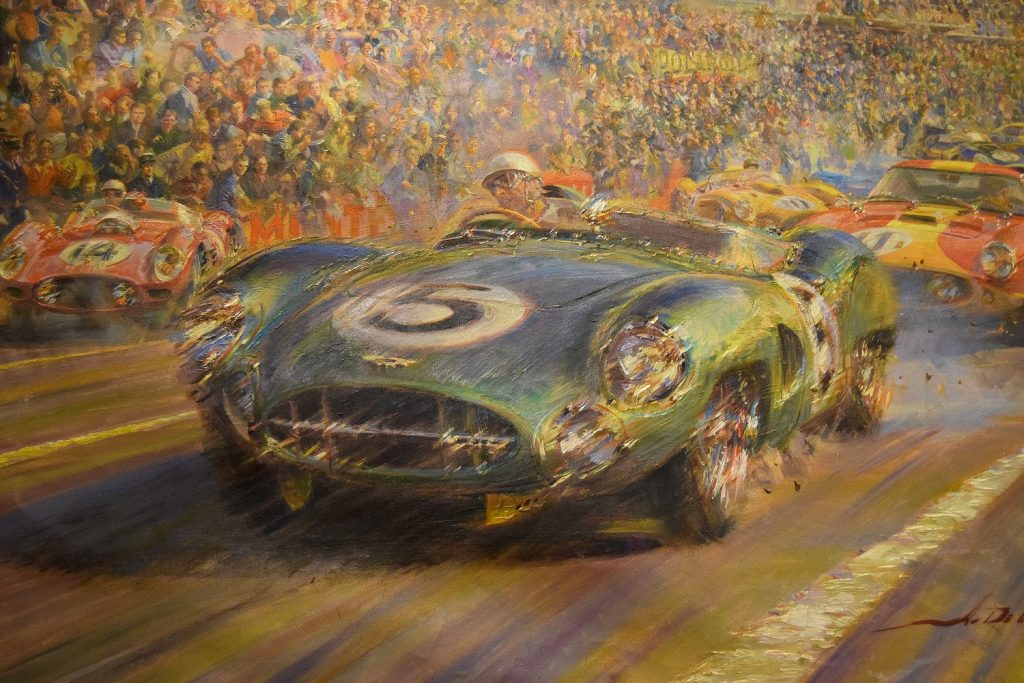 Classic Racing Aston Martin at Le Mans 1958