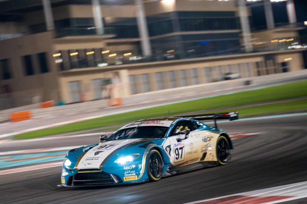 Aston Martin Vantage GT3 in stadium