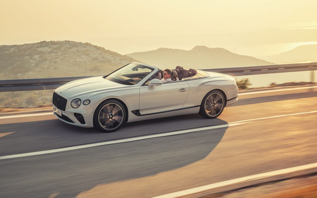 Bentley Continental GT Convertible in motion