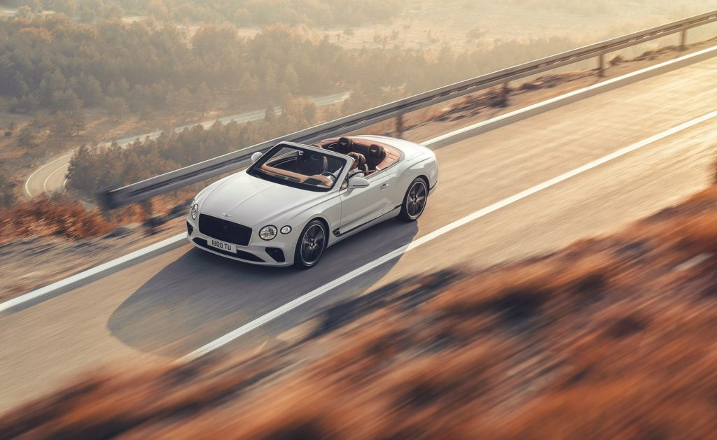 Bentley Continental GT Convertible with top down