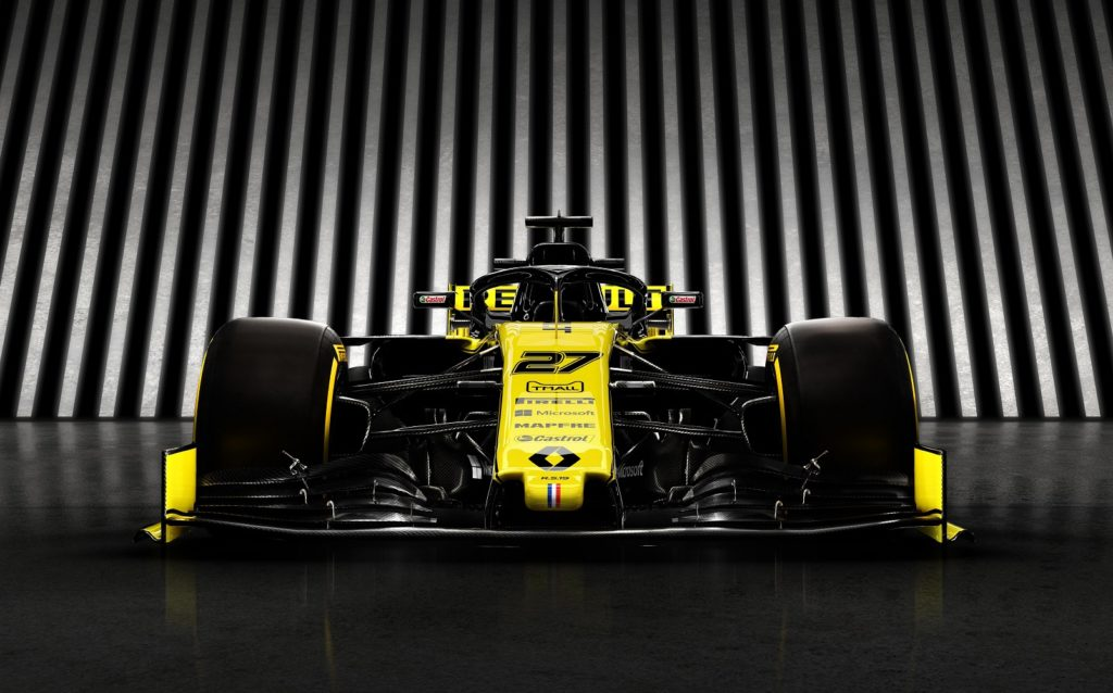 Renault F1 Team 2019 Car Front View