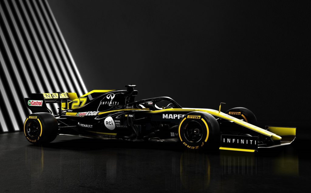Renault F1 Team 2019 Car Side View