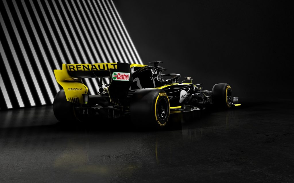 Renault F1 Team 2019 Car Rear View