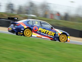 BTCC Andrew Jordan testing in his BMW