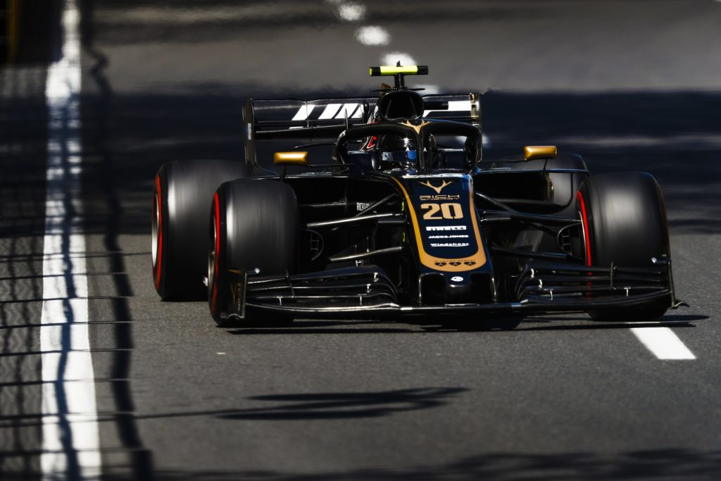 Kevin Magnussen qualifying for the 2019 Azerbaijan Grand Prix