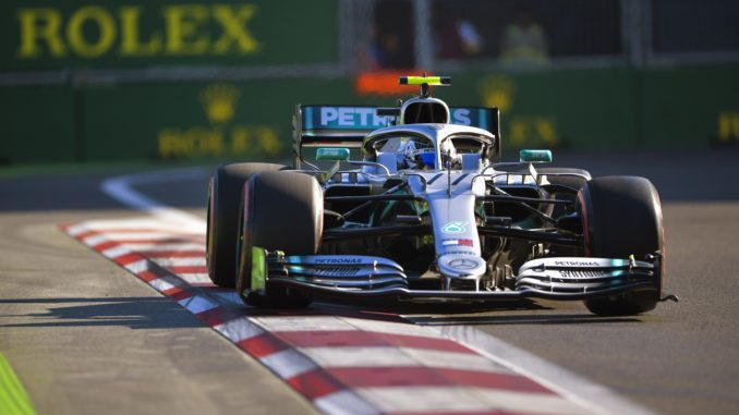 Valtteri Bottas taking pole for the 2019 Azerbaijan Grand Prix