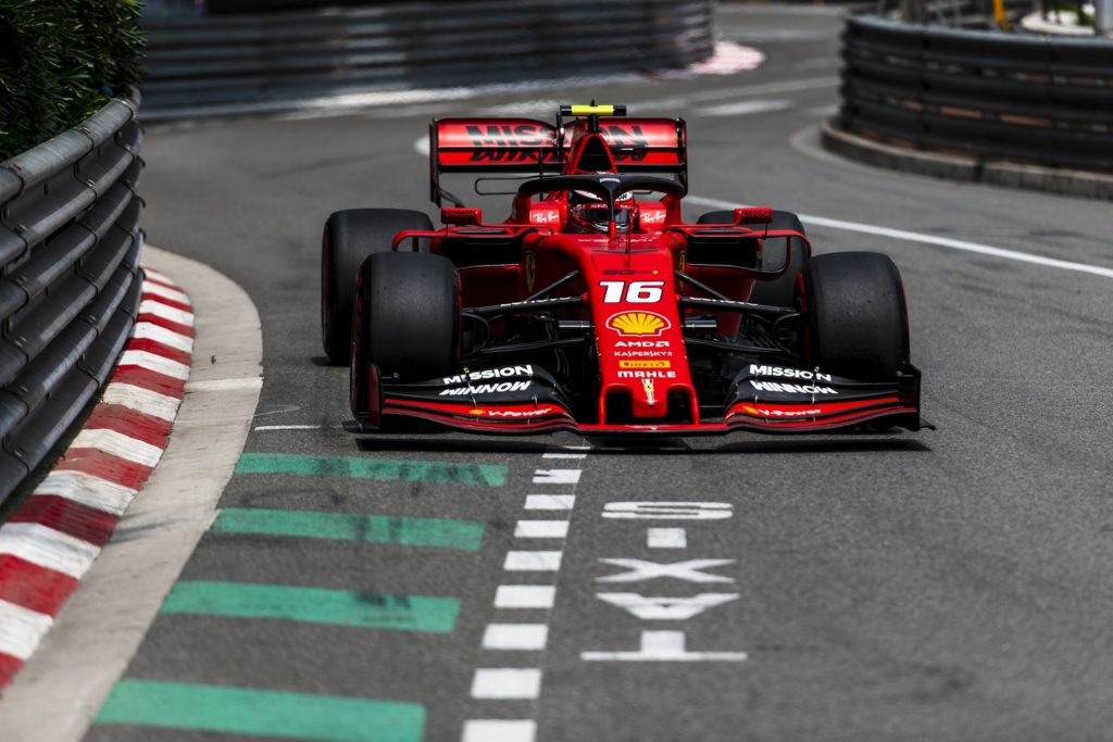Charles LeClerc qualifying for the Monaco Grand Prix