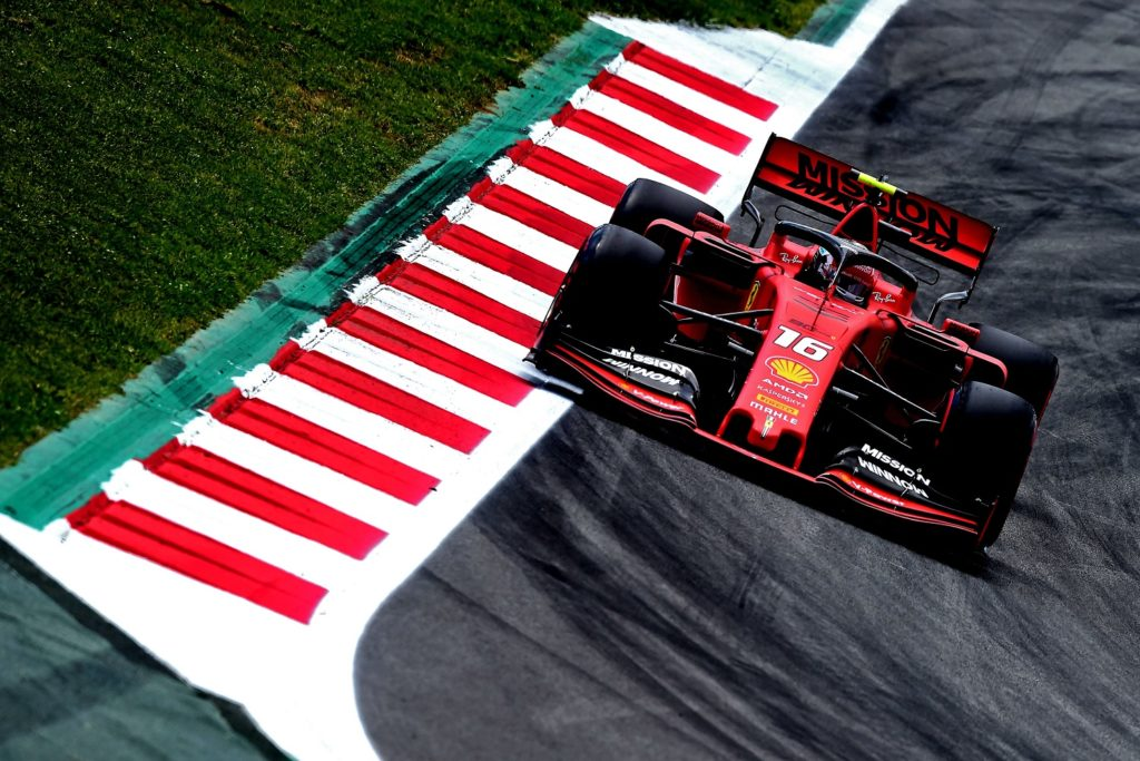 Charles LeClerc qualifying for the Spanish GP