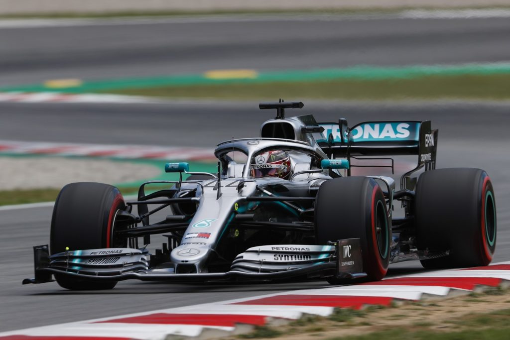 Lewis Hamilton qualifying for the Spanish GP