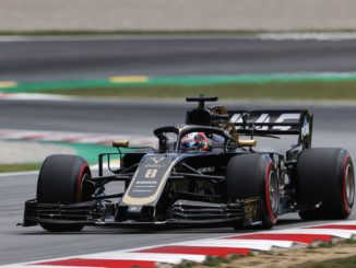 Romain Grosjean qualifying for the Spanish GP