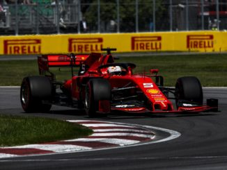 Sebastian Vettel taking pole for the Canadian Grand Prix