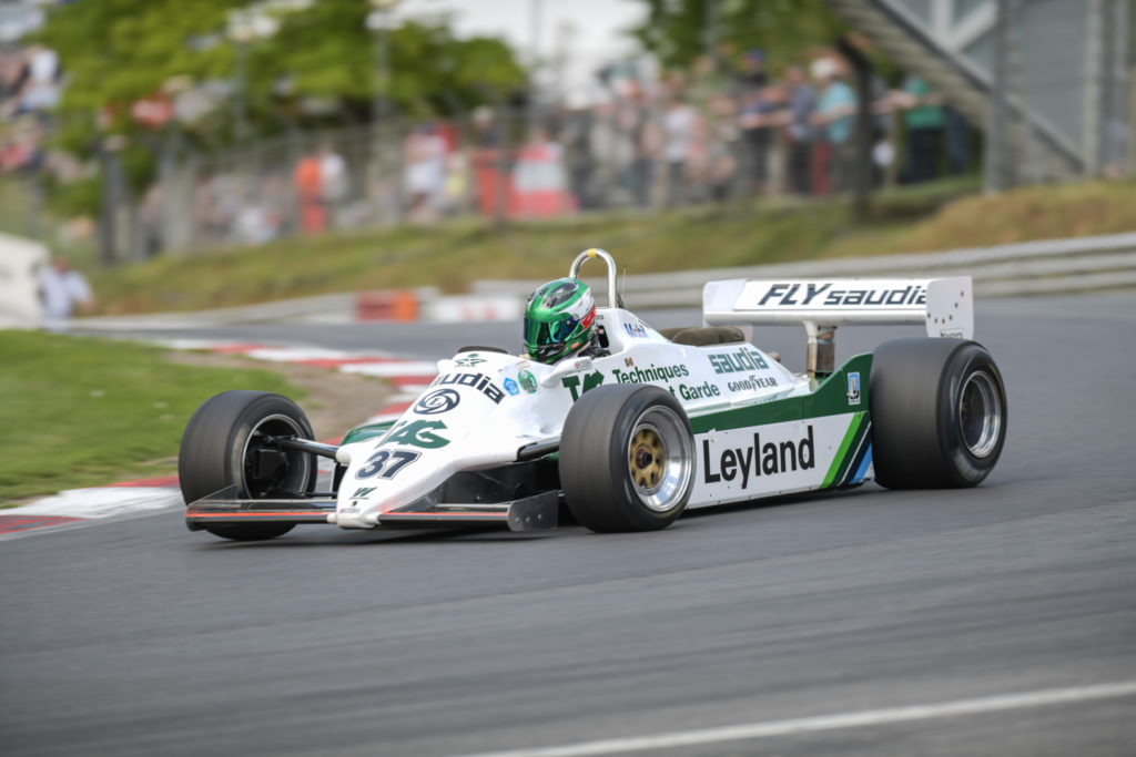 Christophe d'Ansembourg's 1982 Williams FW07C in Historic Formula One Race