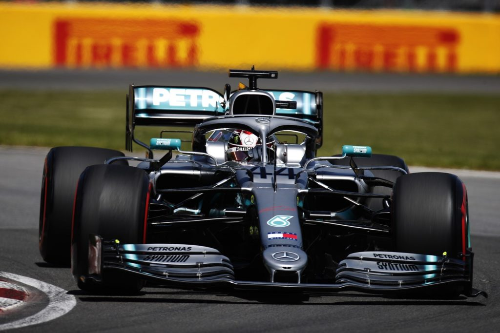 Lewis Hamilton lines up second for the Canadian Grand Prix