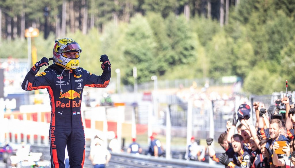 Max Verstappen after winning the Austrian Grand Prix