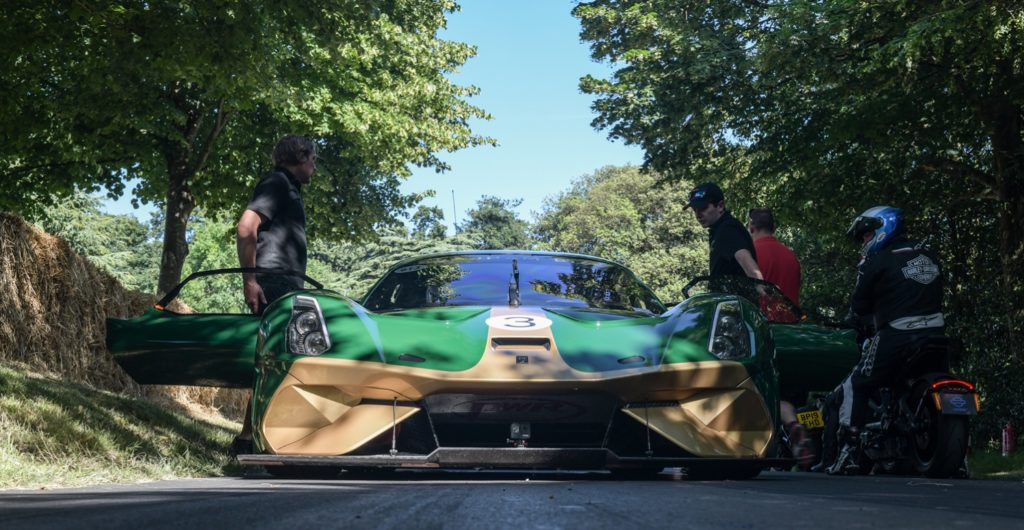 Brabham BT62 waiting for its run at FOS