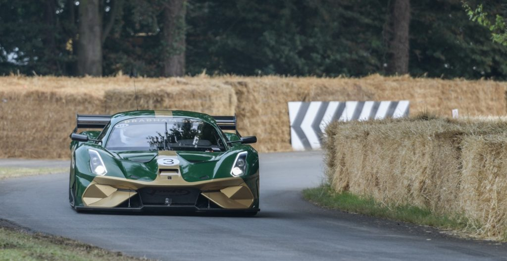 The Brabham BT62 in action at FOS