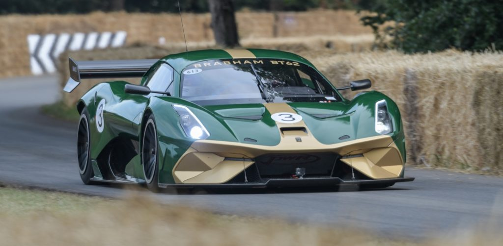 Close up of the BT62 in action at FOS