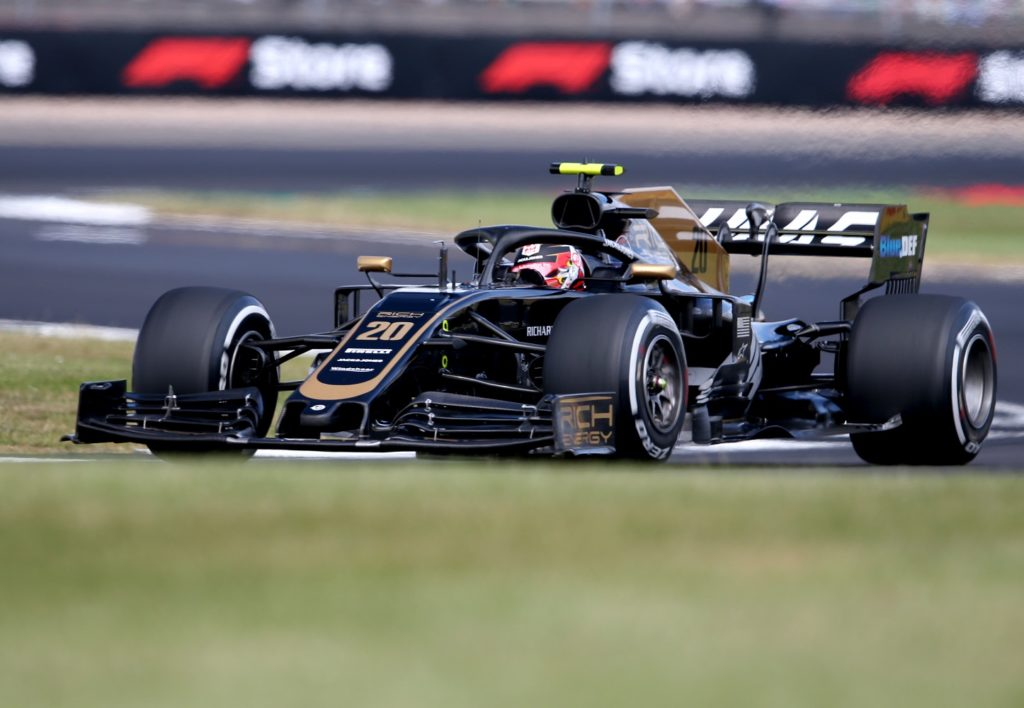 Kevin Magnussen in his Haas