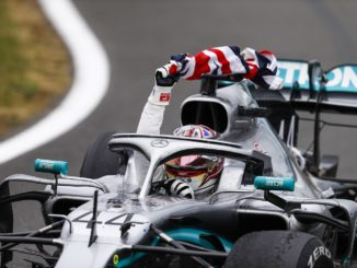 Lewis Hamilton winning the British Grand Prix