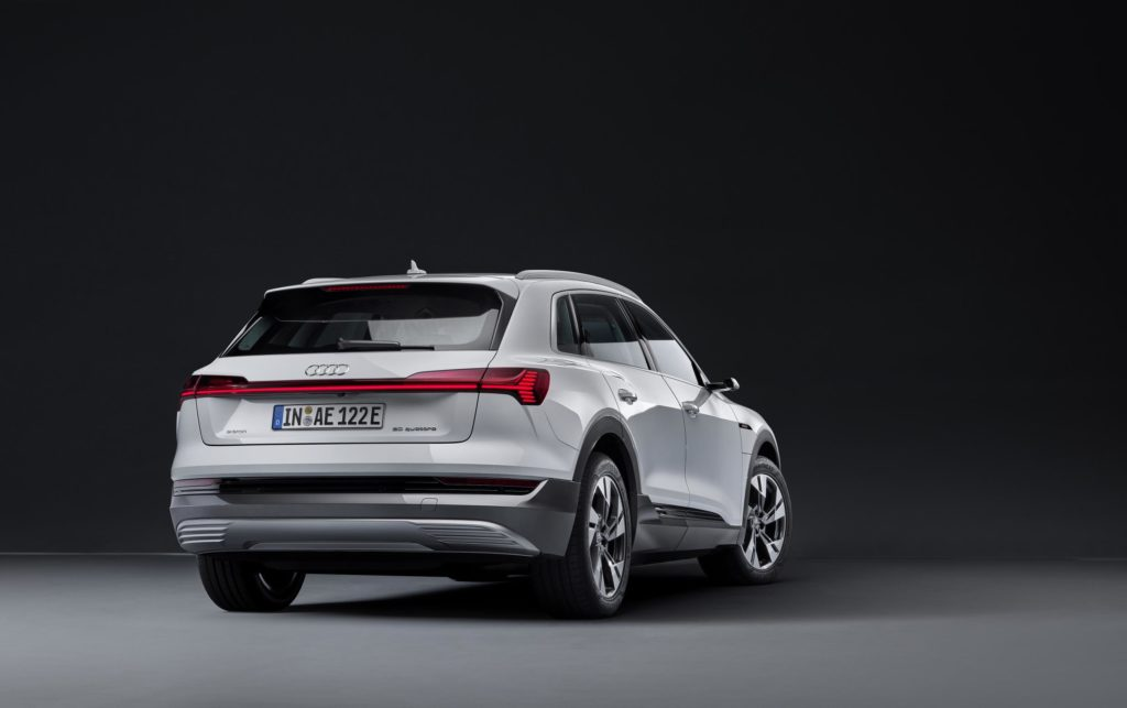 Rear of the Audi e-tron 50 Quattro