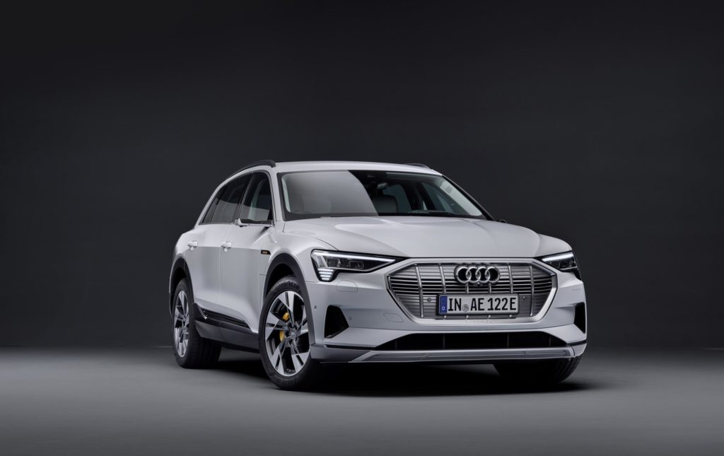 Front of the new Audi e-tron 50 Quattro