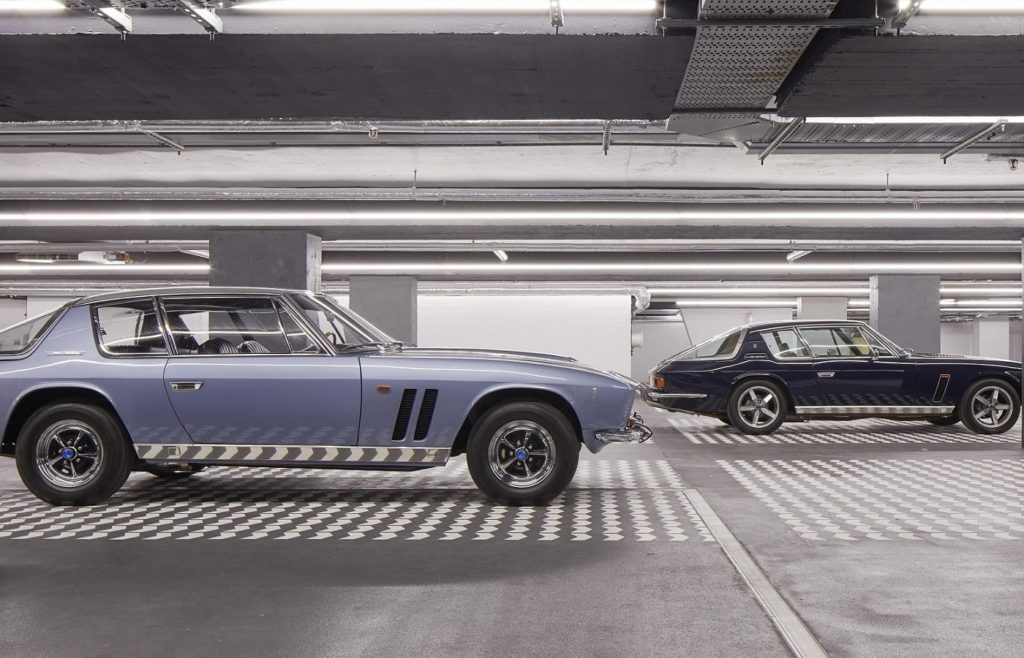 The 2 Jensens in the Centre Point Garage