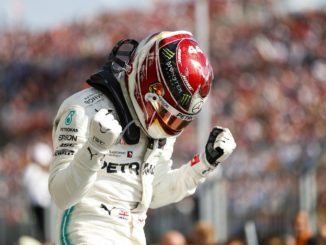 Lewis Hamilton winning the 2019 Hungarian Grand Prix