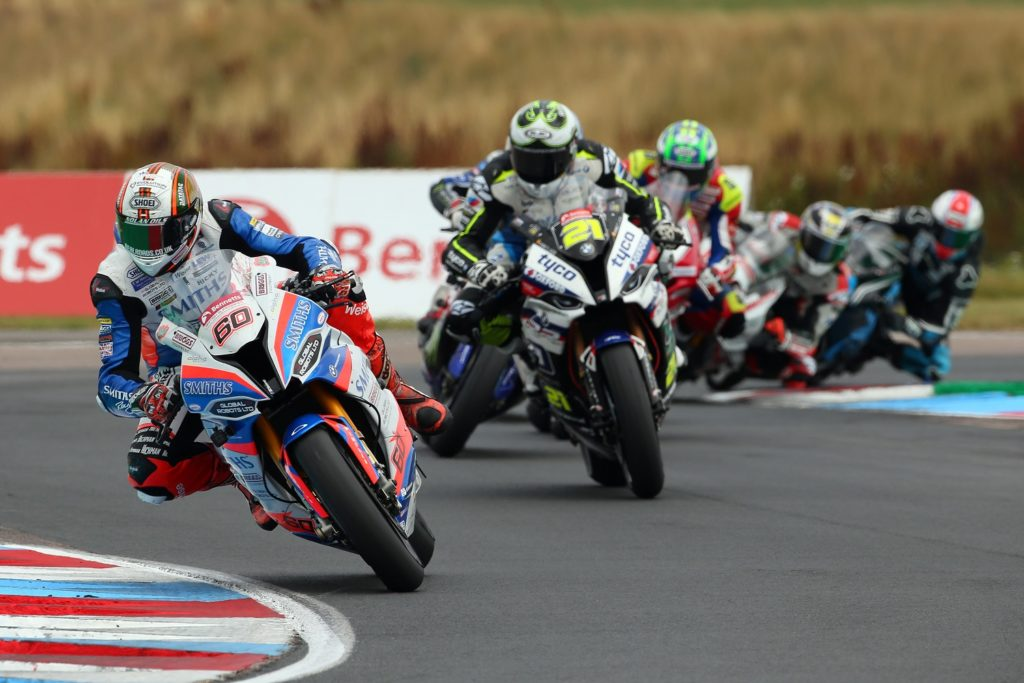 Peter Hickman leading the field