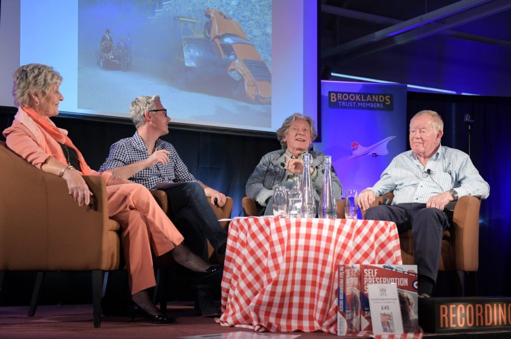 Talking about The Italian Job at Brooklands