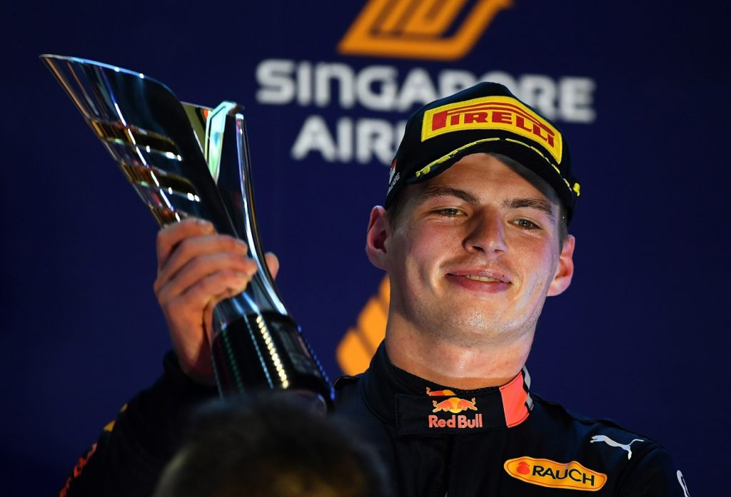 Max Verstappen comes third at the Singapore Grand Prix