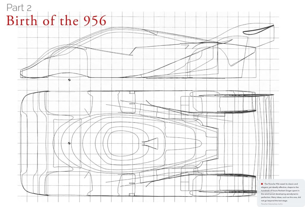 Works Porsche 956 Design Drawings