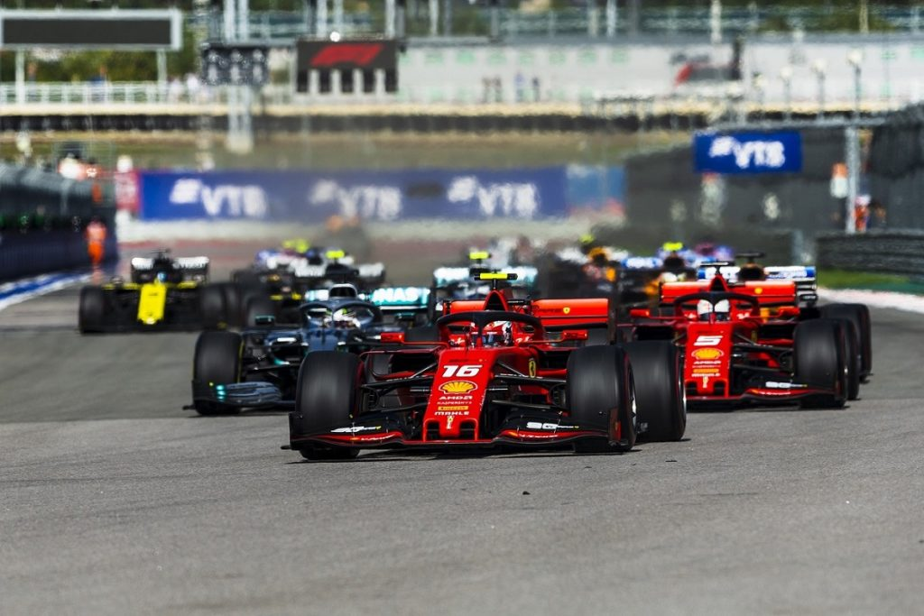 Start of the Russian Grand Prix