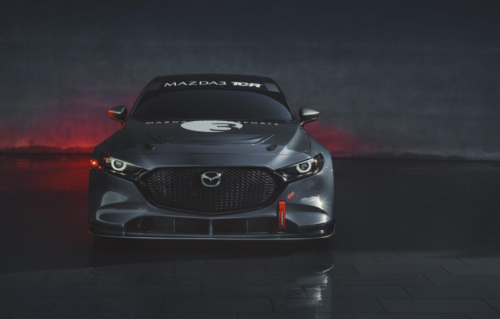 Front view of Mazda3 TCR