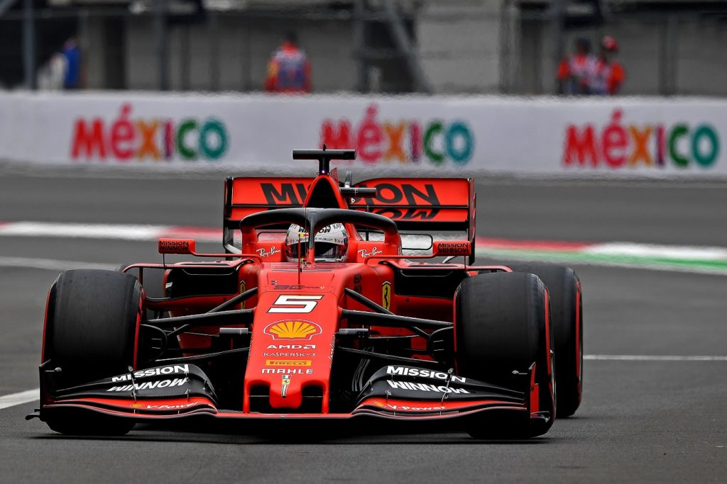 Sebastian Vettel at the Mexican Grand Prix