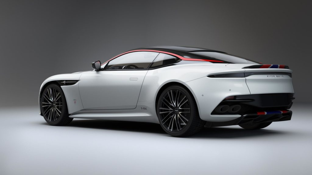 Rear view of the Aston Martin
