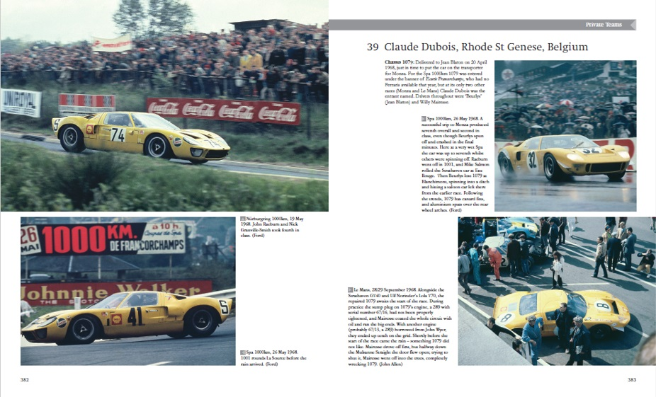 The GT40 racing in France