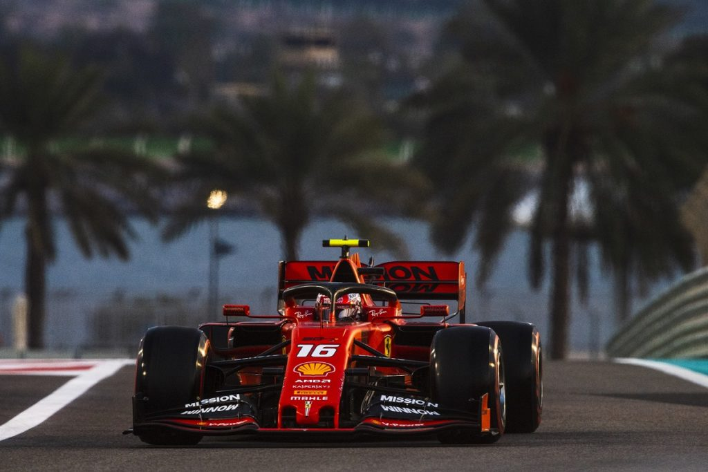 Charles Leclerc finishing third at the Abu Dhabi Grand Prix