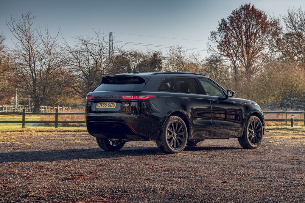 Rear view of the Range Rover