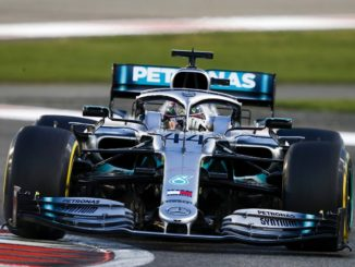 Lewis Hamilton winning the Abui Dhabi Grand Prix