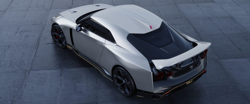 Aerial view of Nissan GT-R50