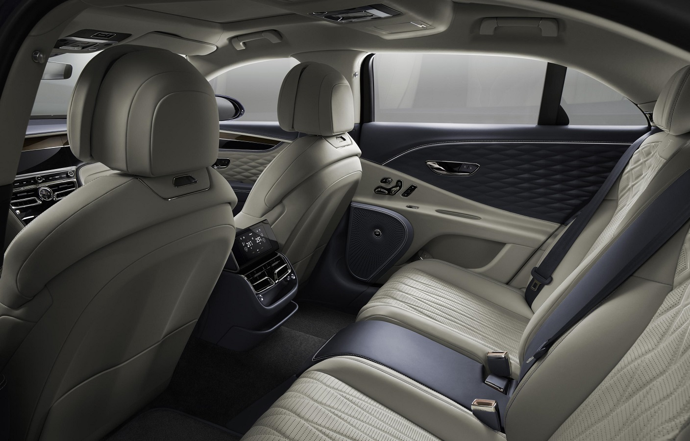 Rear seats in the Flying Spur