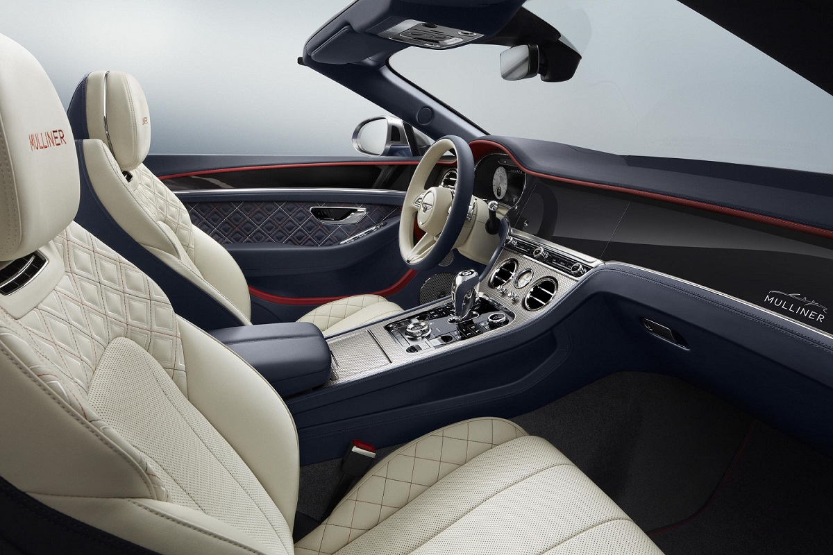 Interior of the Bentley Continental GT Mulliner Convertible