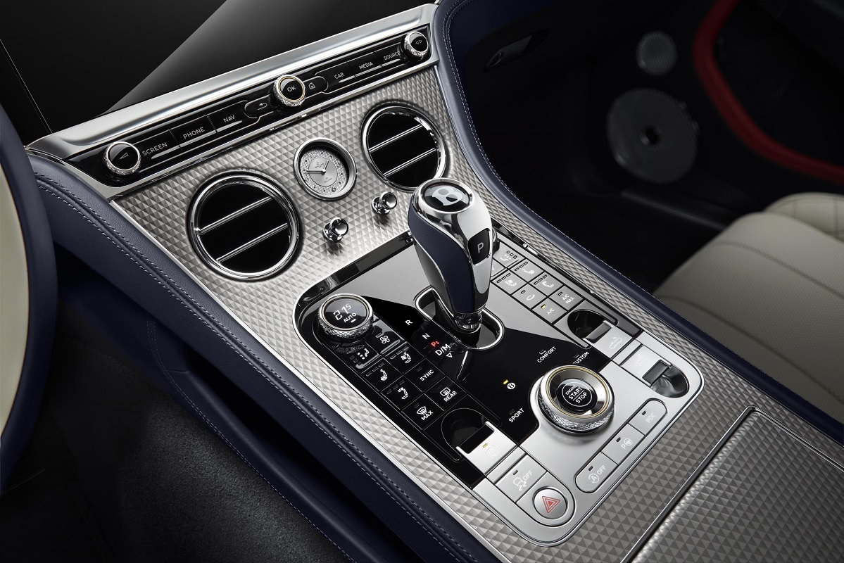 Centre Console on the Bentley Continental GT