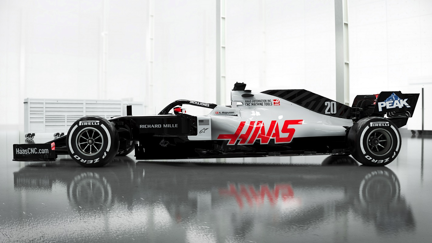 Profile of the new Haas F1 VF-20