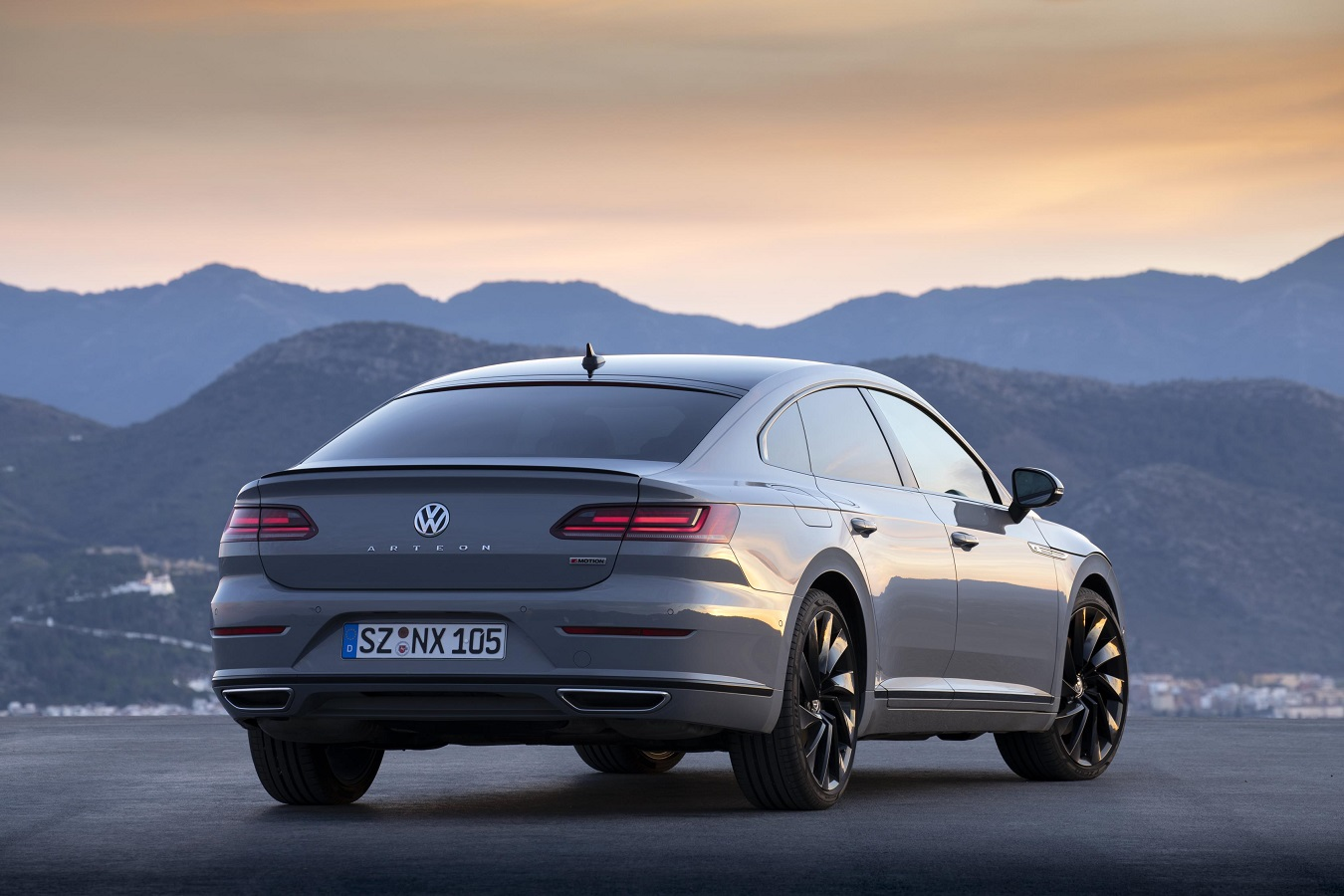 Rear view of the Volkswagen Arteon R-Line Edition