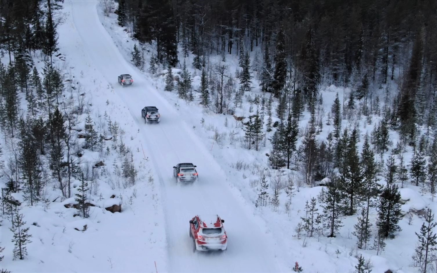 Jeep Renegades and Compass 4xe in Swedish Lapland
