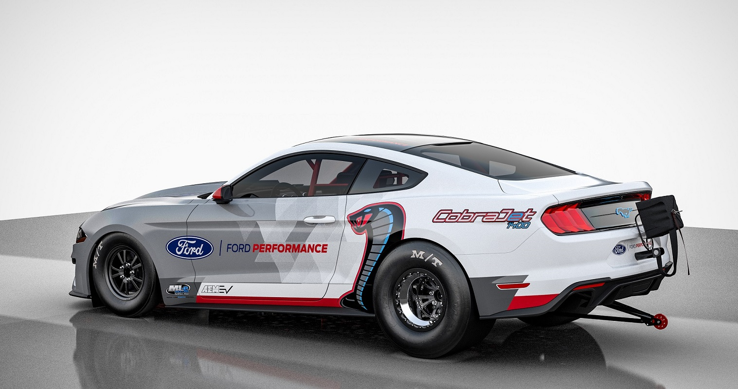 All-electric Ford Mustang Dragster
