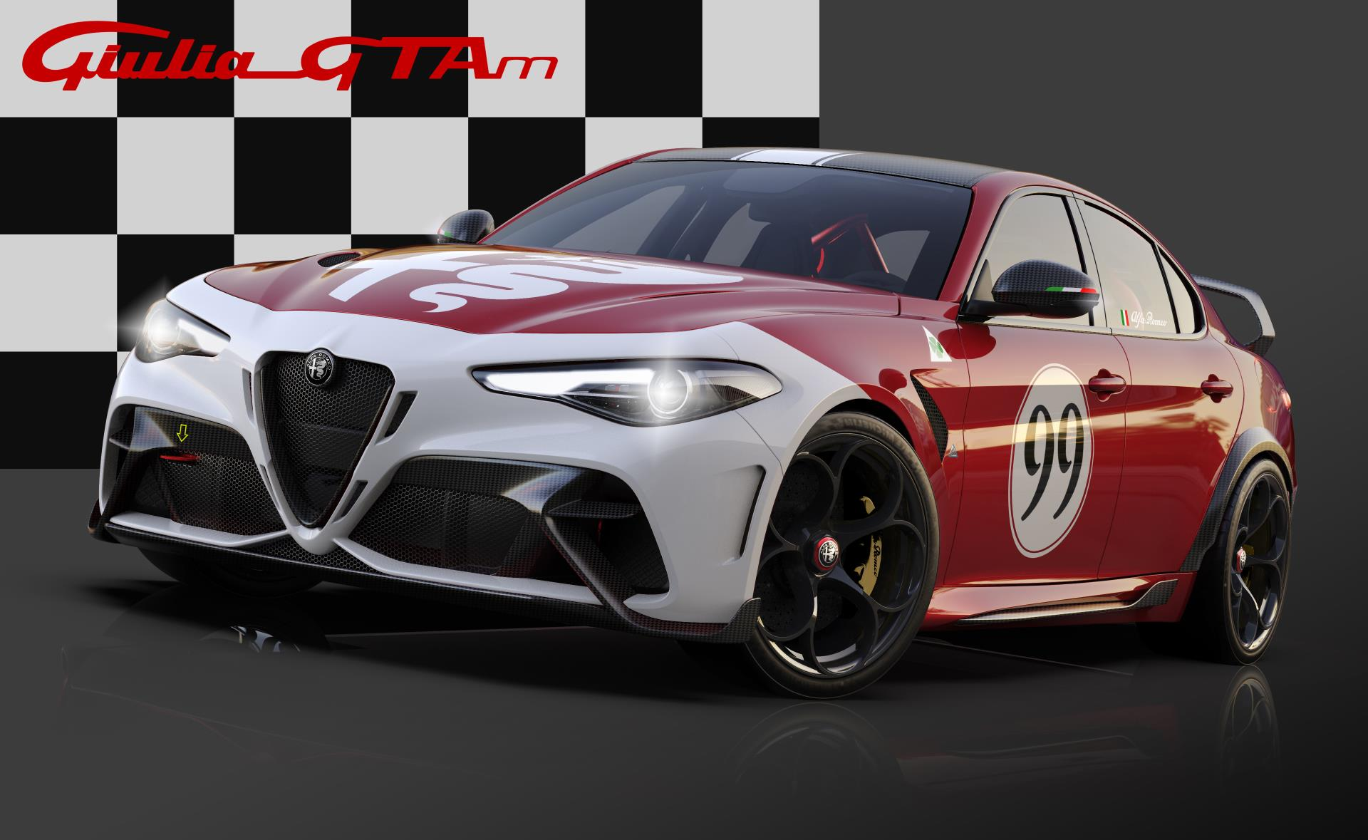 Alfa Romeo Giulia GTA dedicated Red Livery
