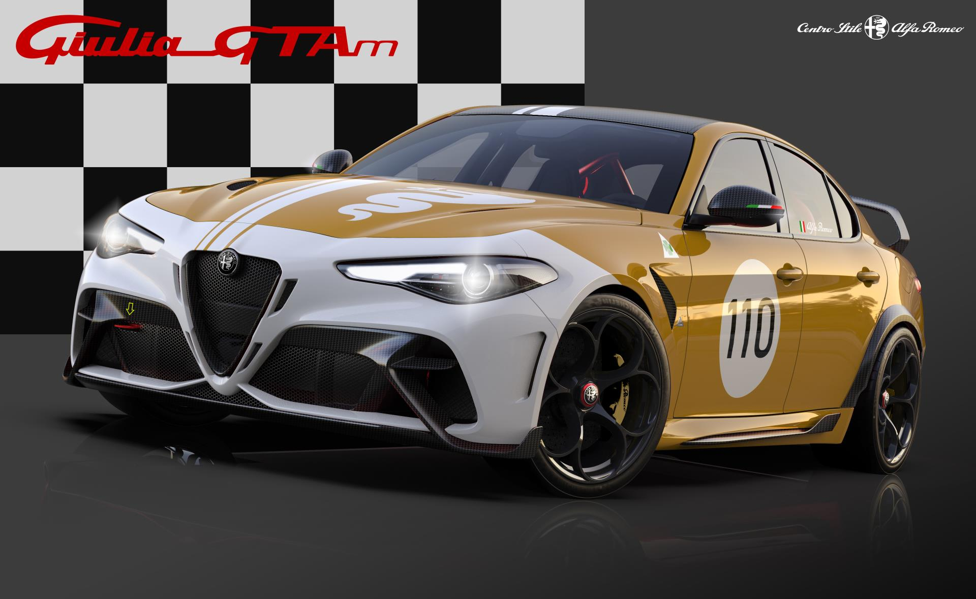 Alfa Romeo Giulia GTA dedicated Yellow Livery