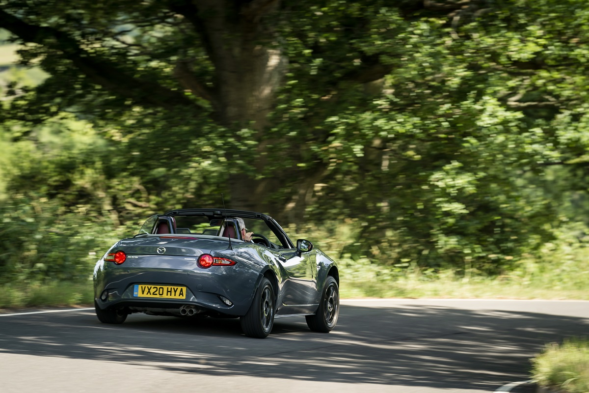 The MX-5 out on the open road